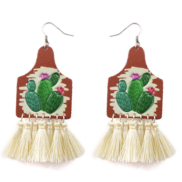 CACTUS BLOSSOM TASSEL EARRINGS