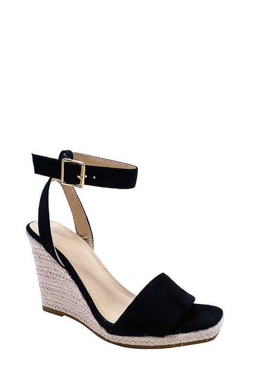 ARA BLACK WEDGE SANDAL
