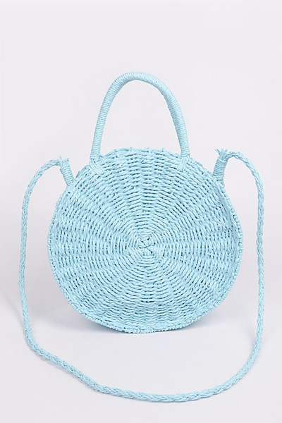 CHANCE MEETING ROUND STRAW BAG - ASSORTED COLORS
