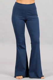 DENIM FRAYED AND FLARE PANT