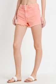 JUST PEACHY FRAYED SHORTS
