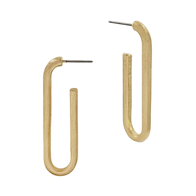 PAPERCLIP HOOP EARRINGS - GOLD & SILVER