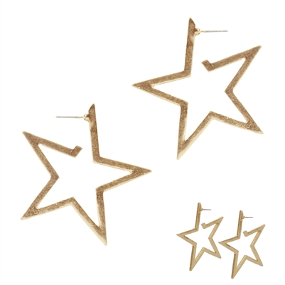OVER THE STARS EARRINGS - GOLD & SILVER