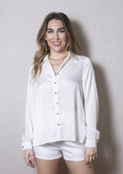 WHITE RUSSIAN BLOUSE