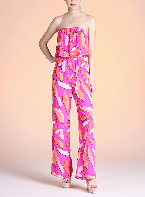 FLORAL ALL THE WAY PINK JUMPSUIT