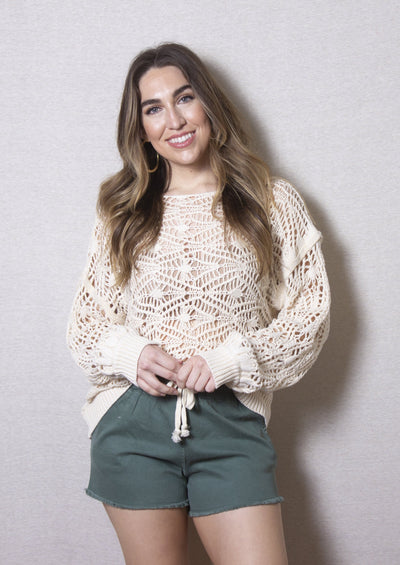 NANTUCKET NIGHTS CROCHET SWEATER