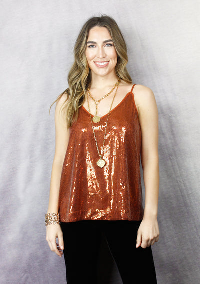 MY TWO CENTS SEQUIN CAMI
