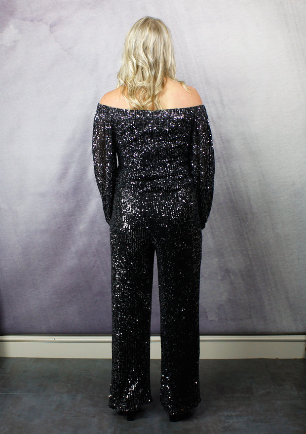 PARTY AT THE PALAZZO PANTS - BLACK