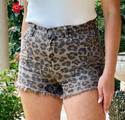 SPOTTED KITTY HIGH WAISTED SHORT
