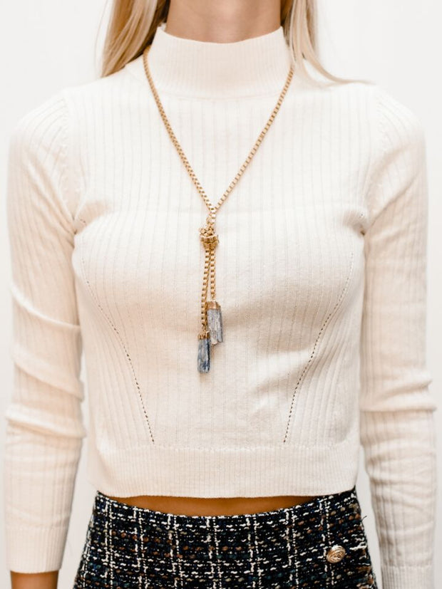CLEAN SLATE BOX KNOT NECKLACE