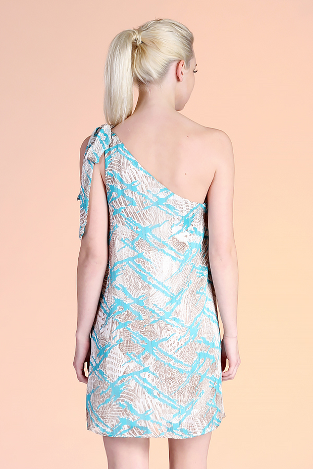 CATCH THE WAVE ONE SHOULDER DRESS