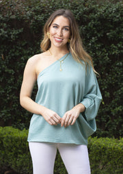 FLIRTING WITH DESIRE ONE SHOULDER BLOUSE