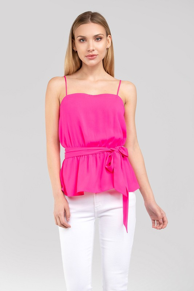 SUMMER LOVING TOP - HOT PINK