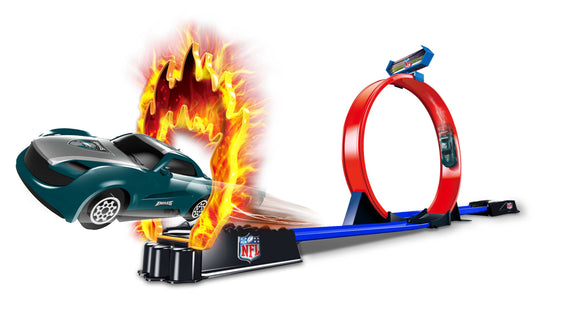OFFICIAL NFL STUNT RACER 2 CARS & TRACK 6PC TO A CASE PACK