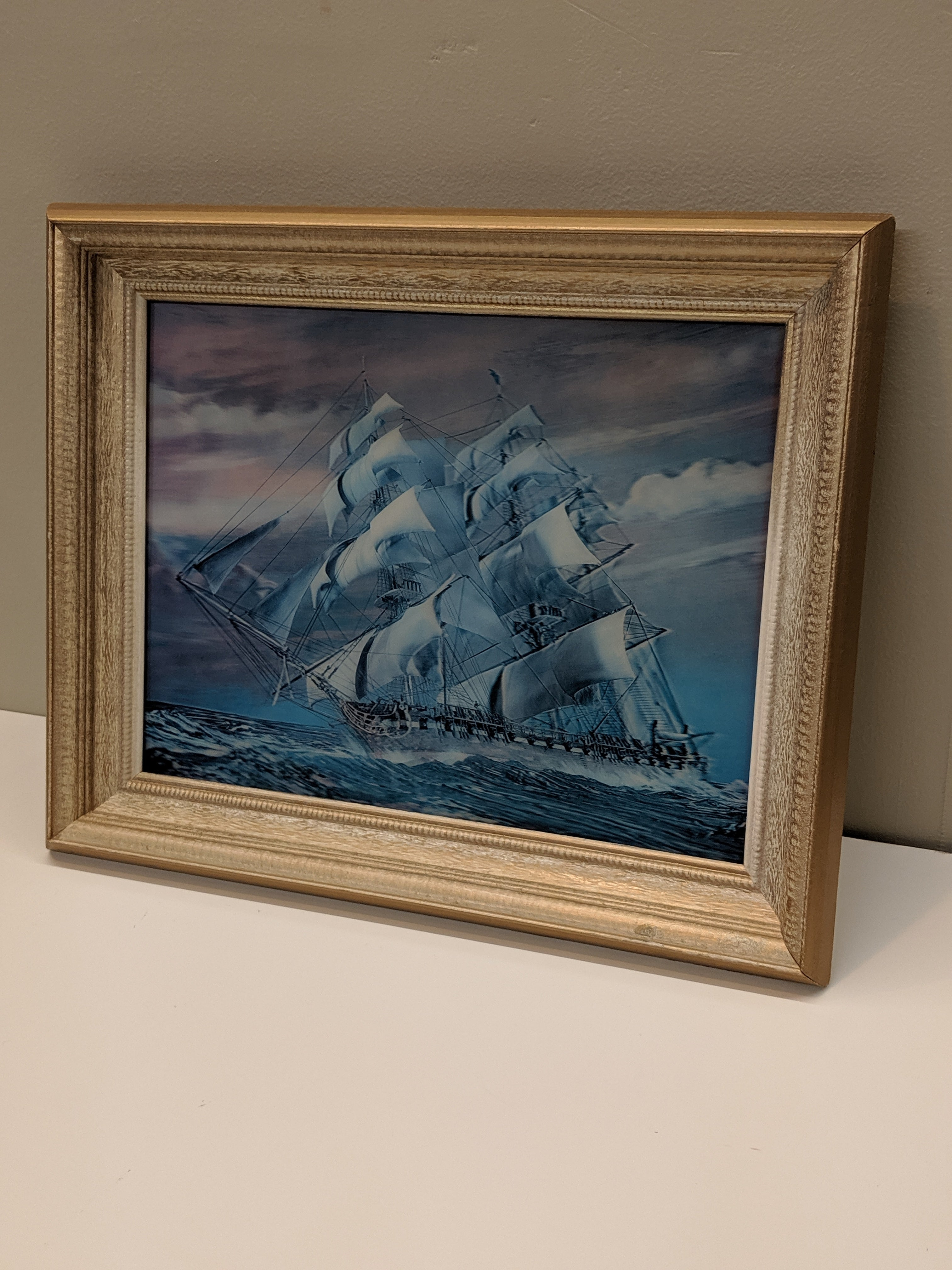 Holographic Sail Boat Art