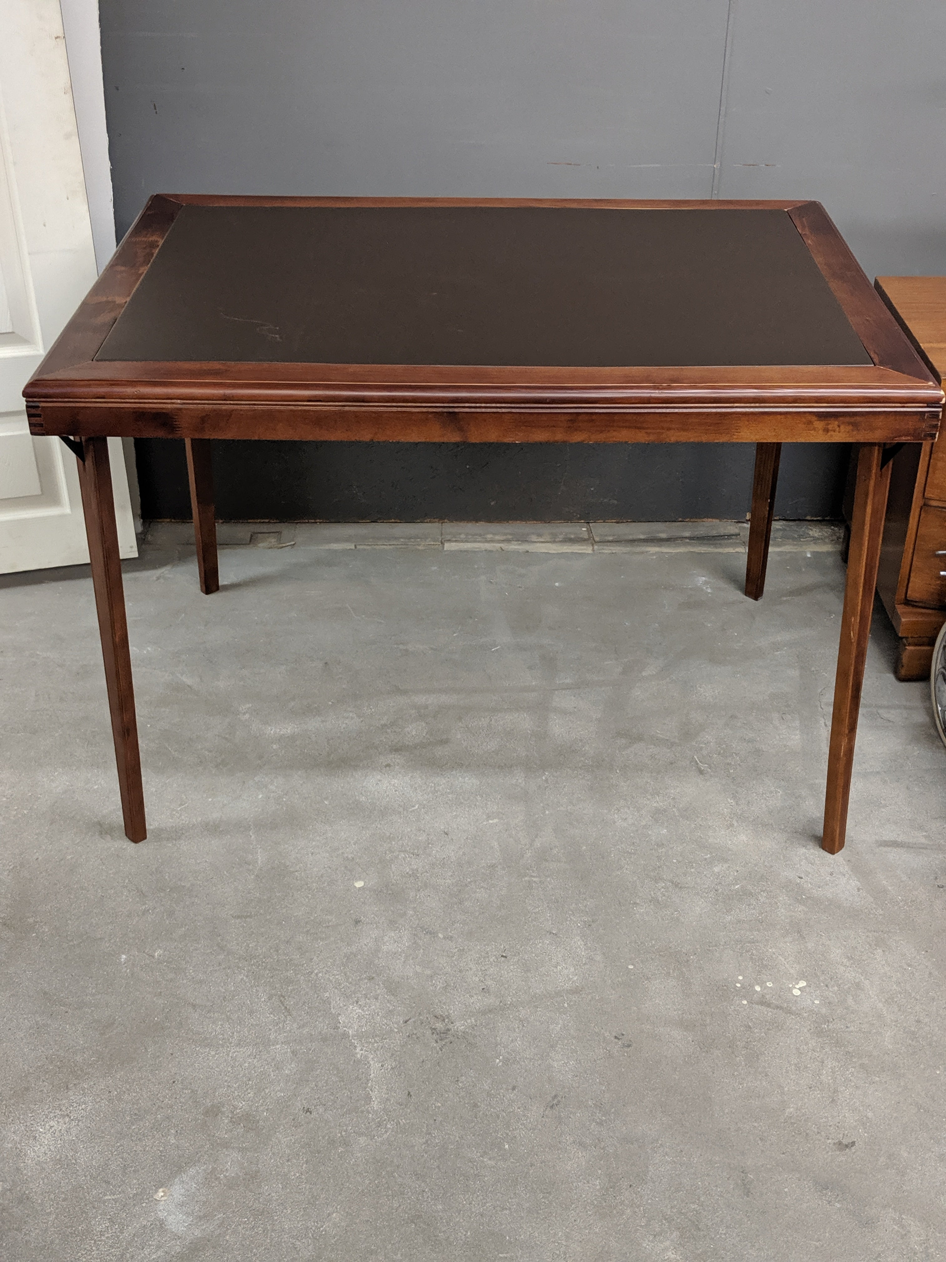 Folding Table with Vinyl Top