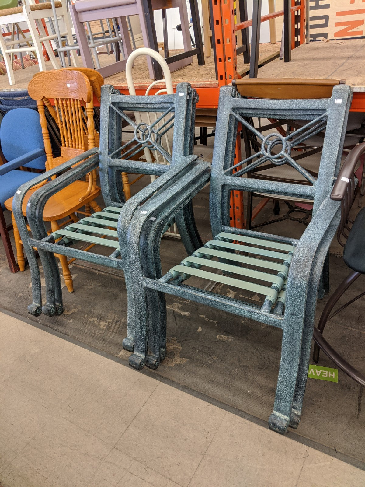 Set of 6 outdoor chairs
