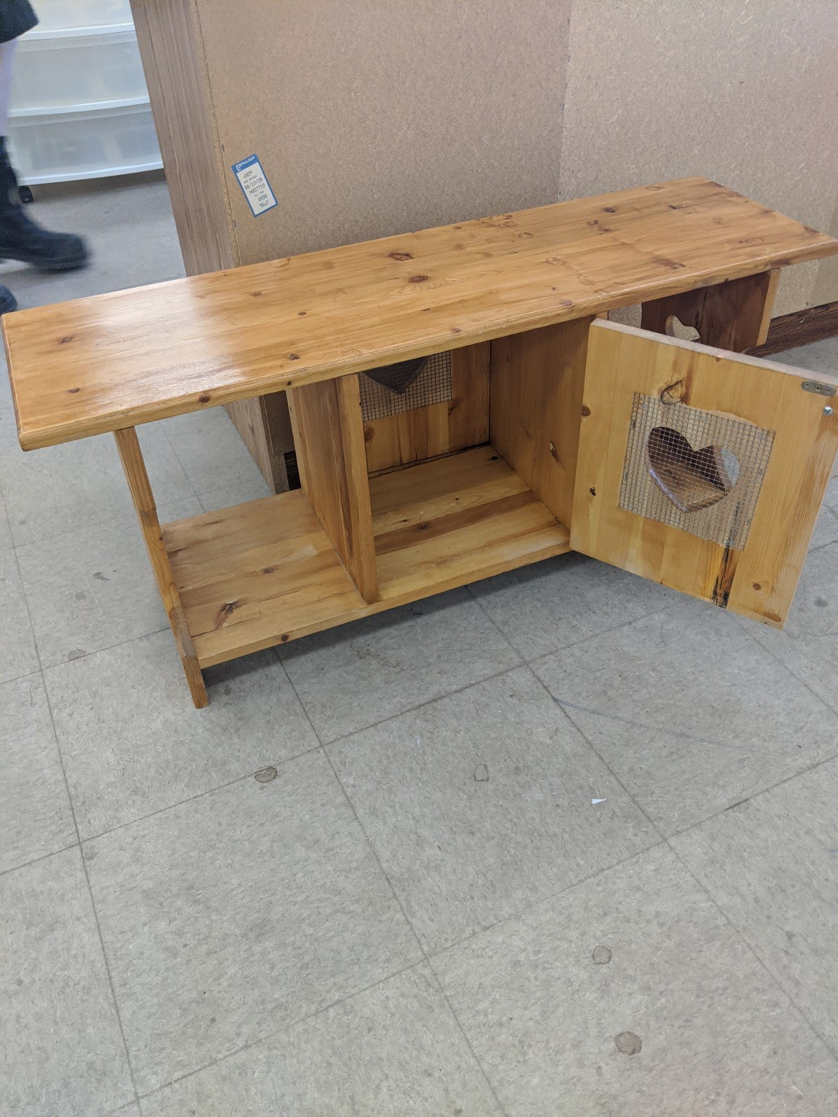 Small coffee table with heart doors