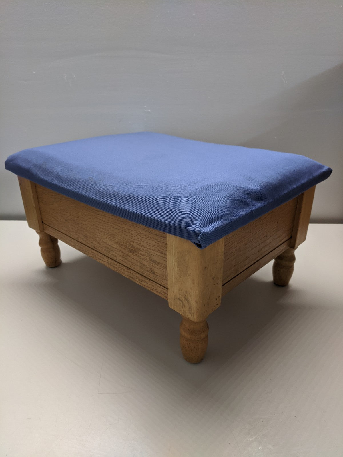 Blue Storage Foot Stool