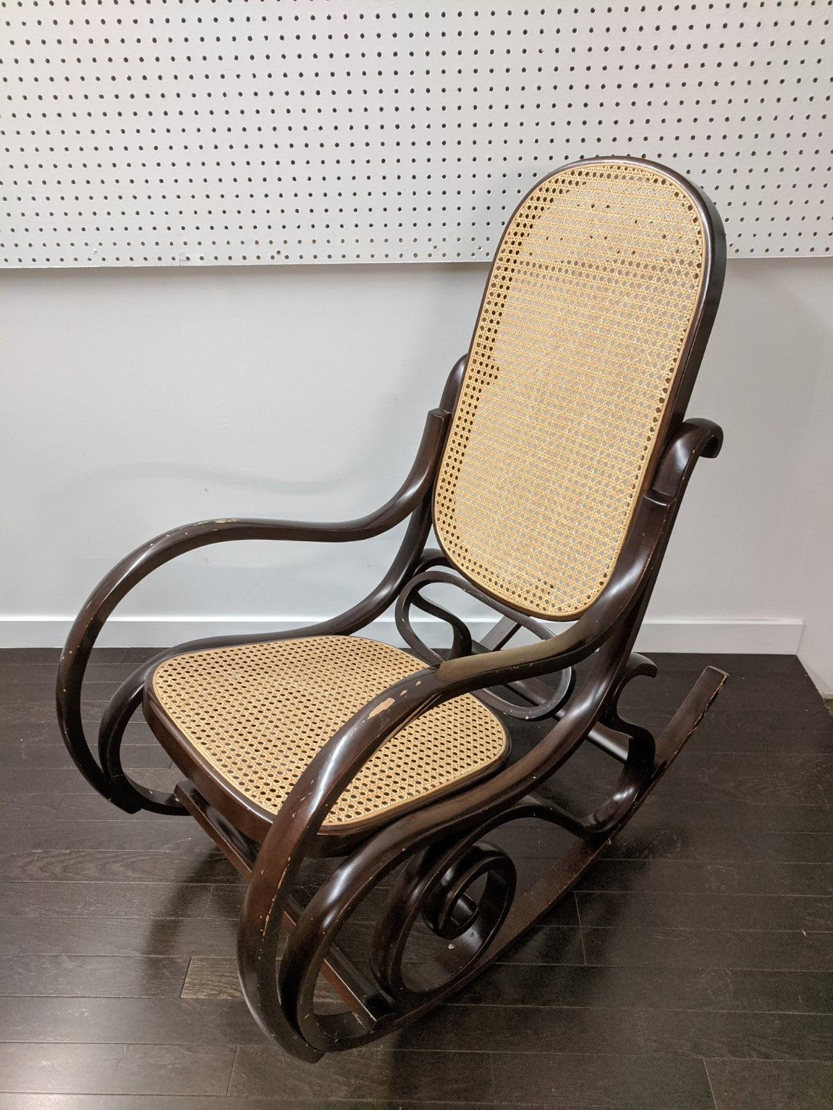 Rattan Back Rocking Chair