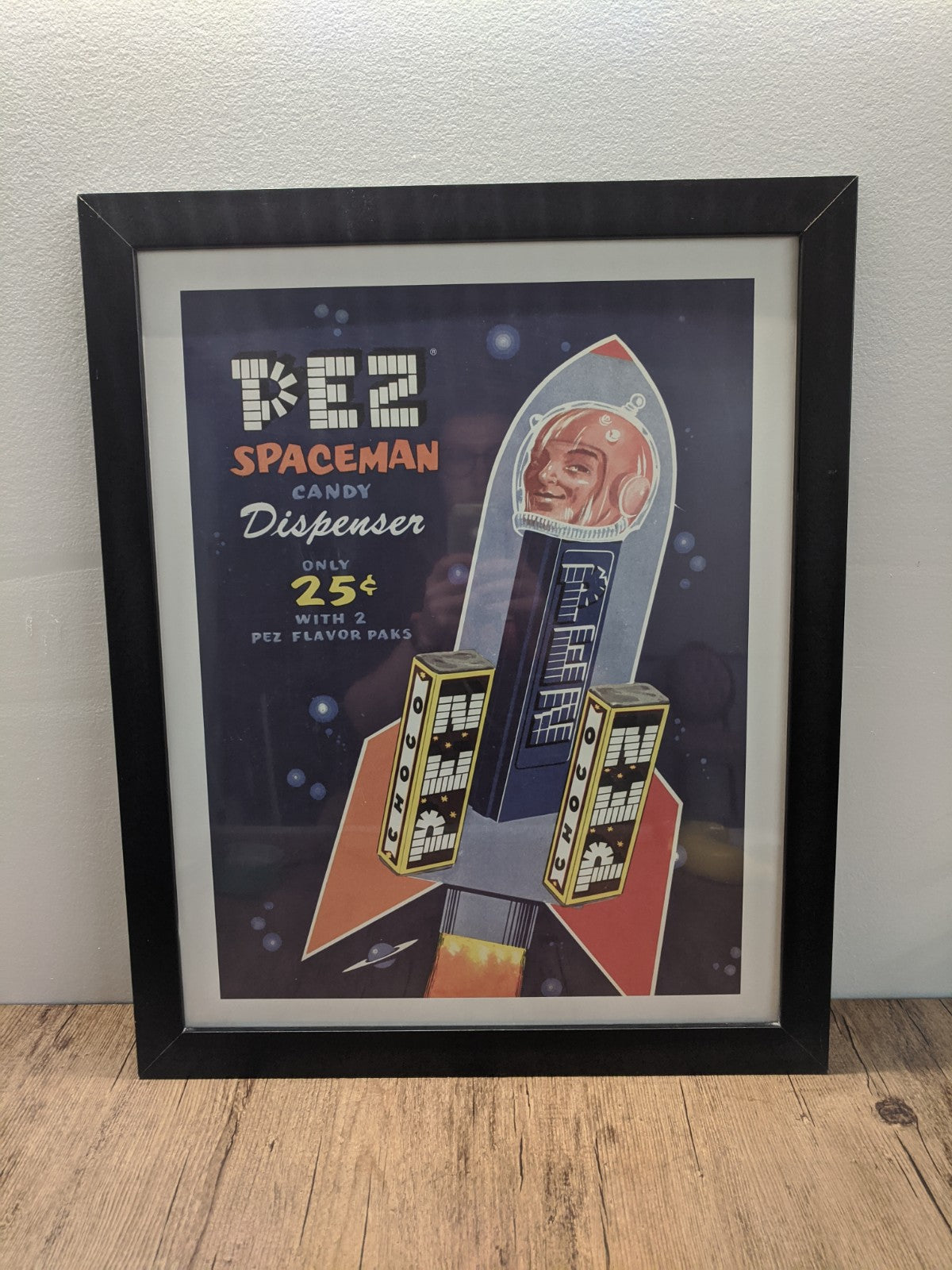 Pez Spaceman Candy Dispenser Framed Poster