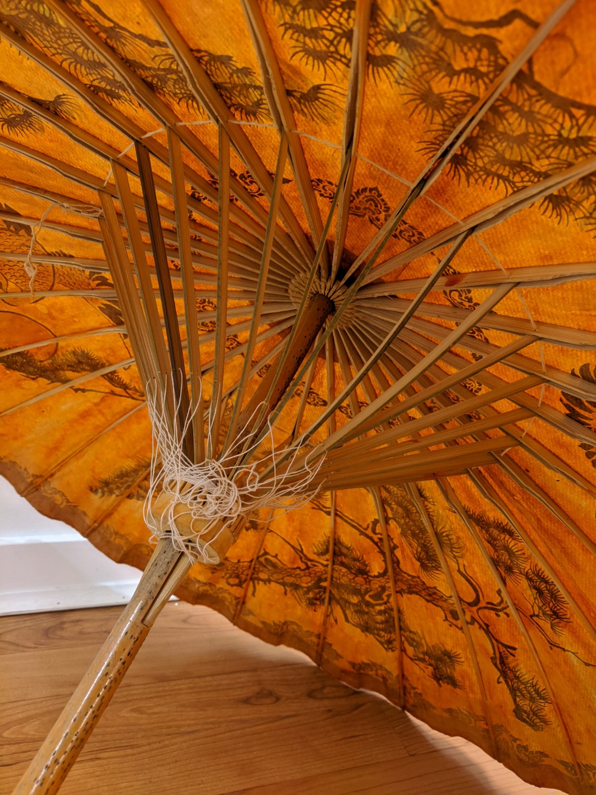 Orange Paper Umbrella