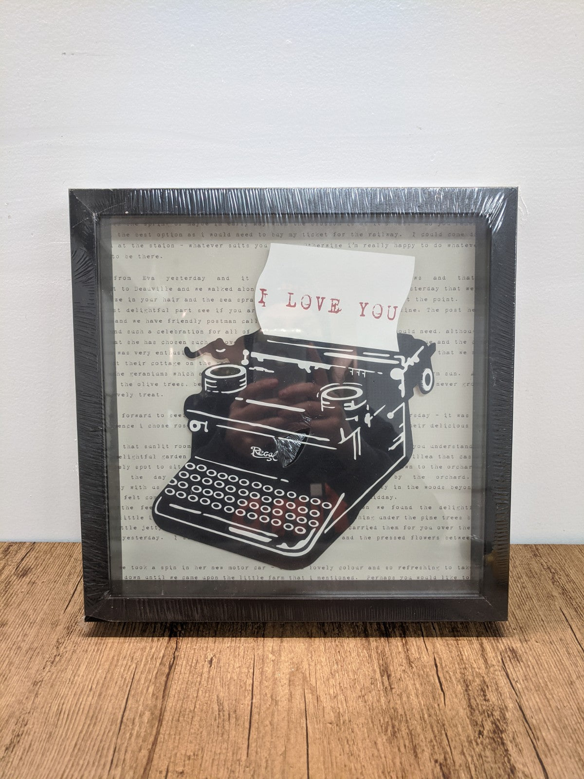 "Ikea ""I Love You"" Typewriter Picture"
