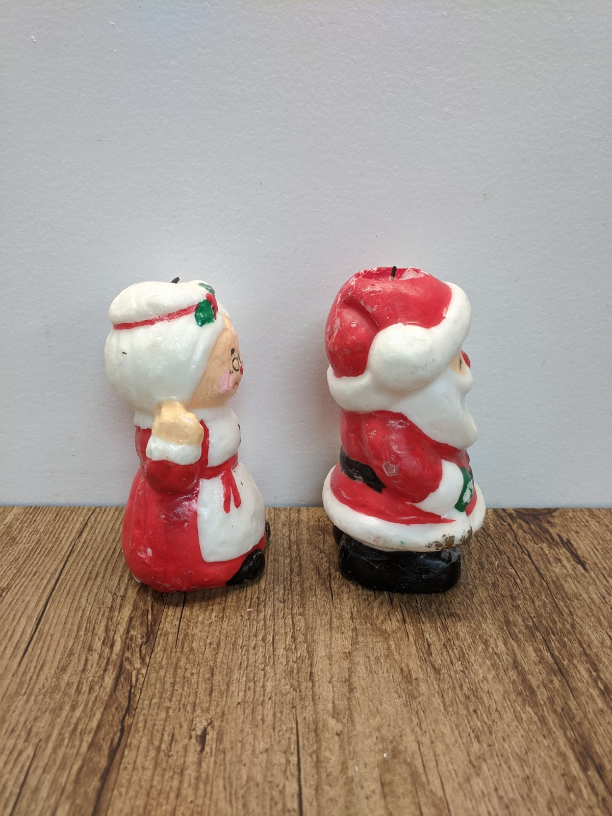 (2) Mr. & Mrs. Clause Candles