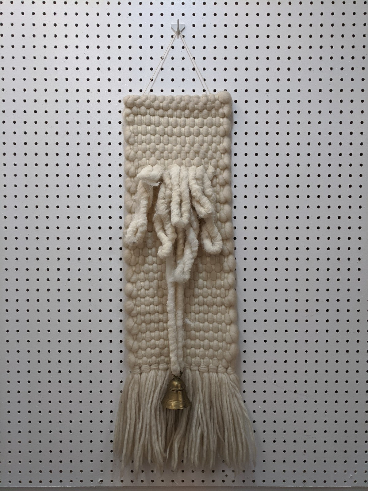 Hand Woven Tapestry with Bell
