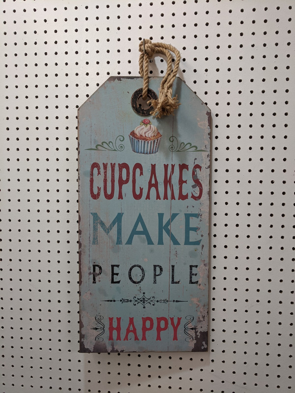 """Cupcakes Make People Happy"" Plaque"