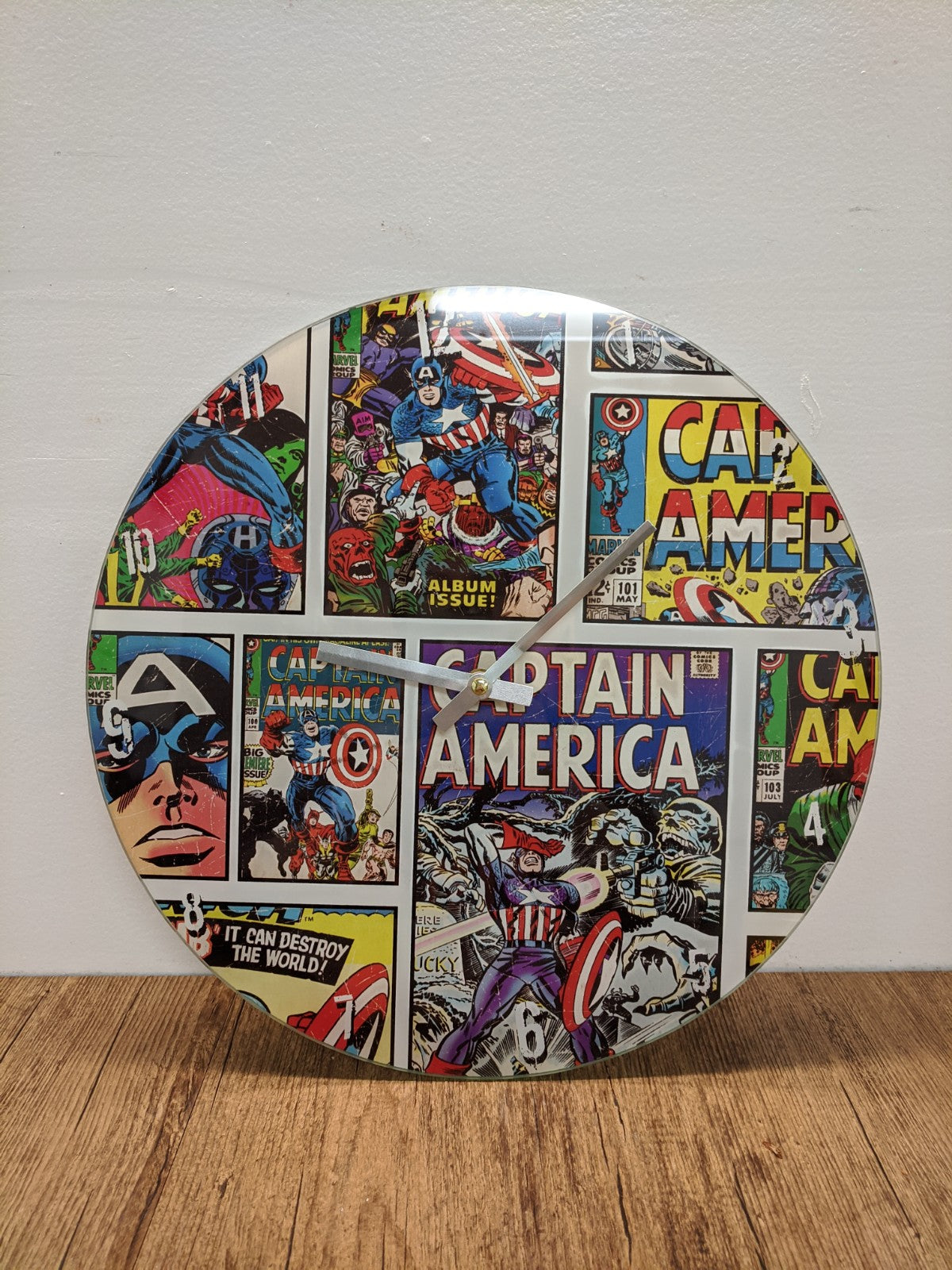 Captain America Comic Clock
