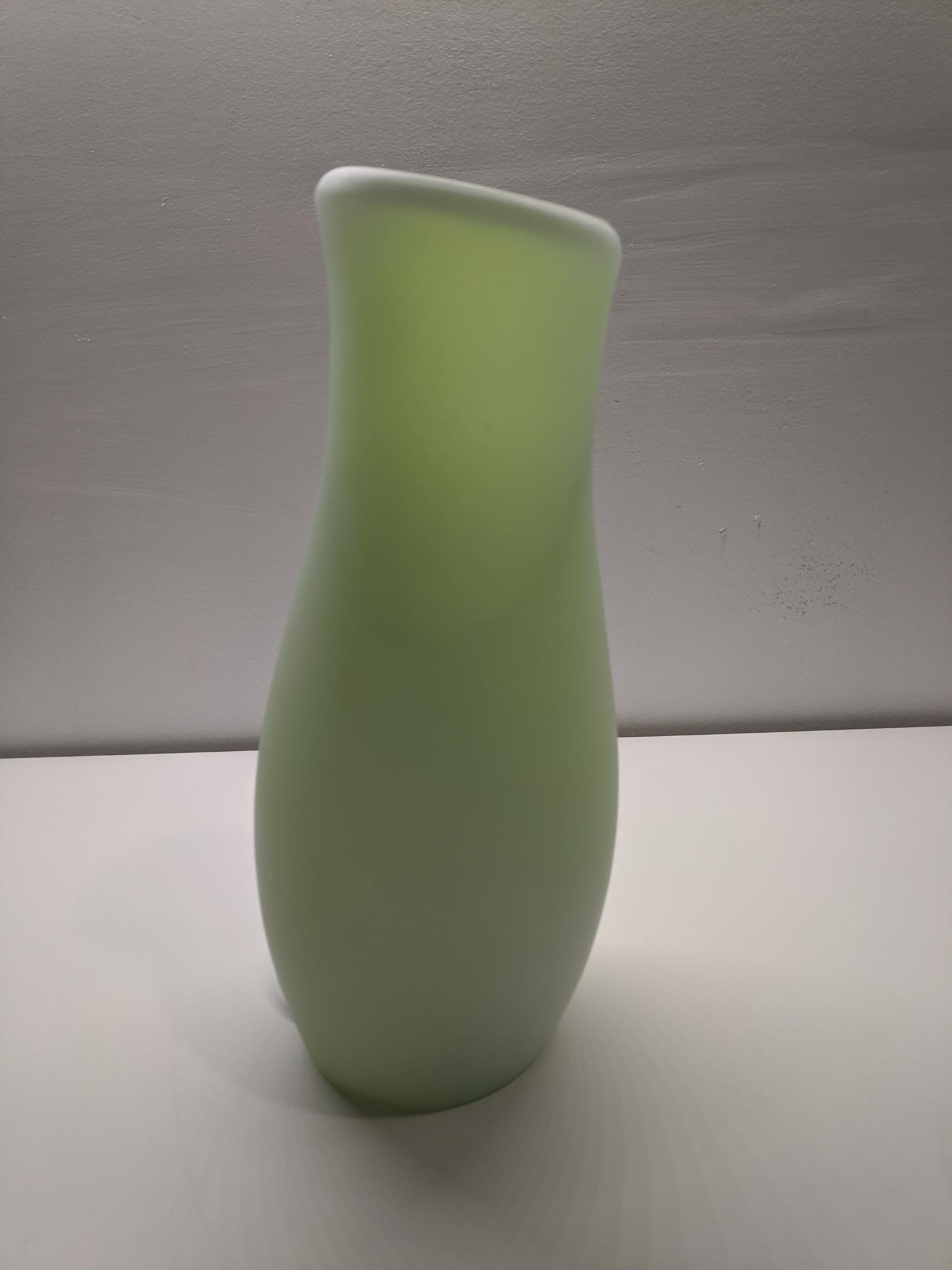 Green Ikea Mylonit Frosted Lamp