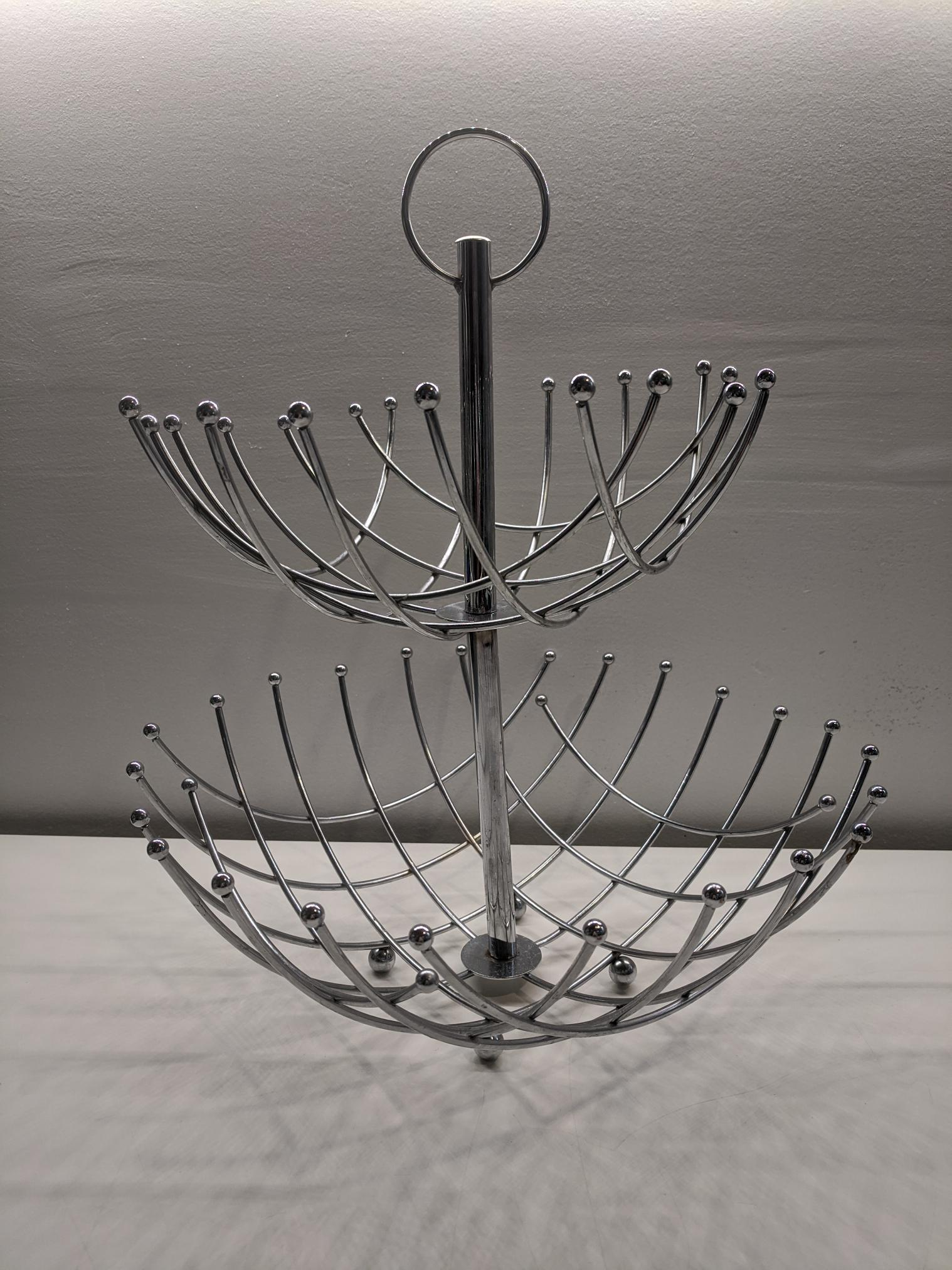 Criss-cross 2-Tier Fruit Basket