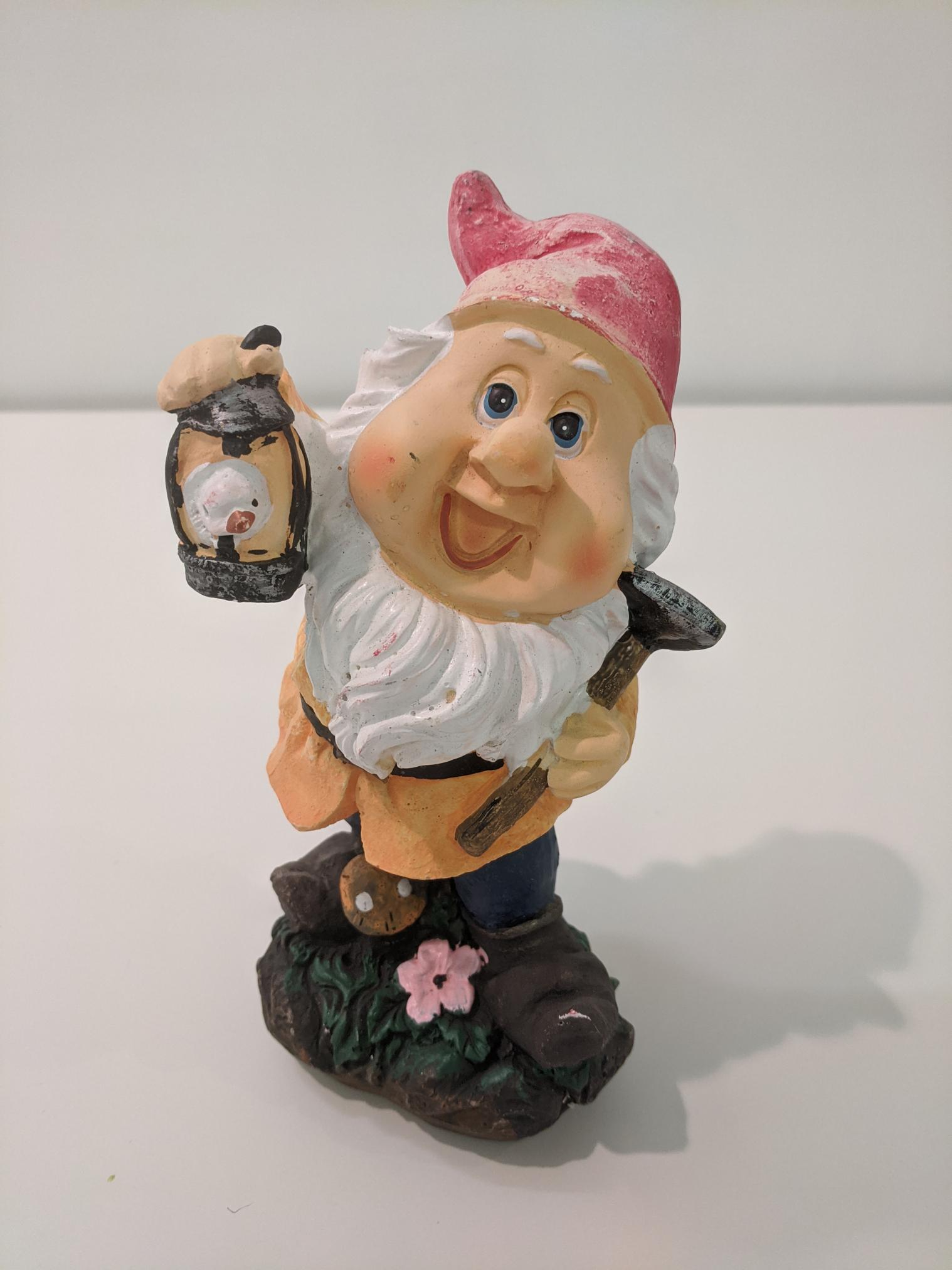 Gnome with Bird Cage