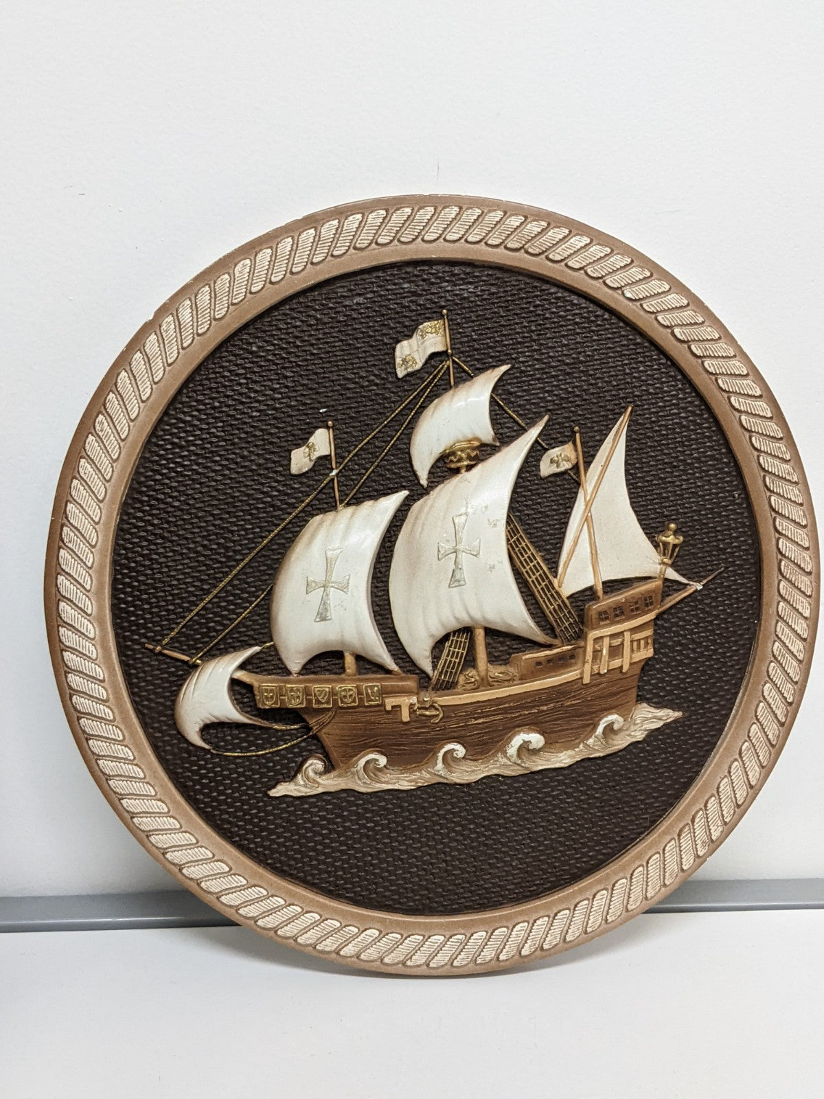 Ceramic Ship Wall Hanging