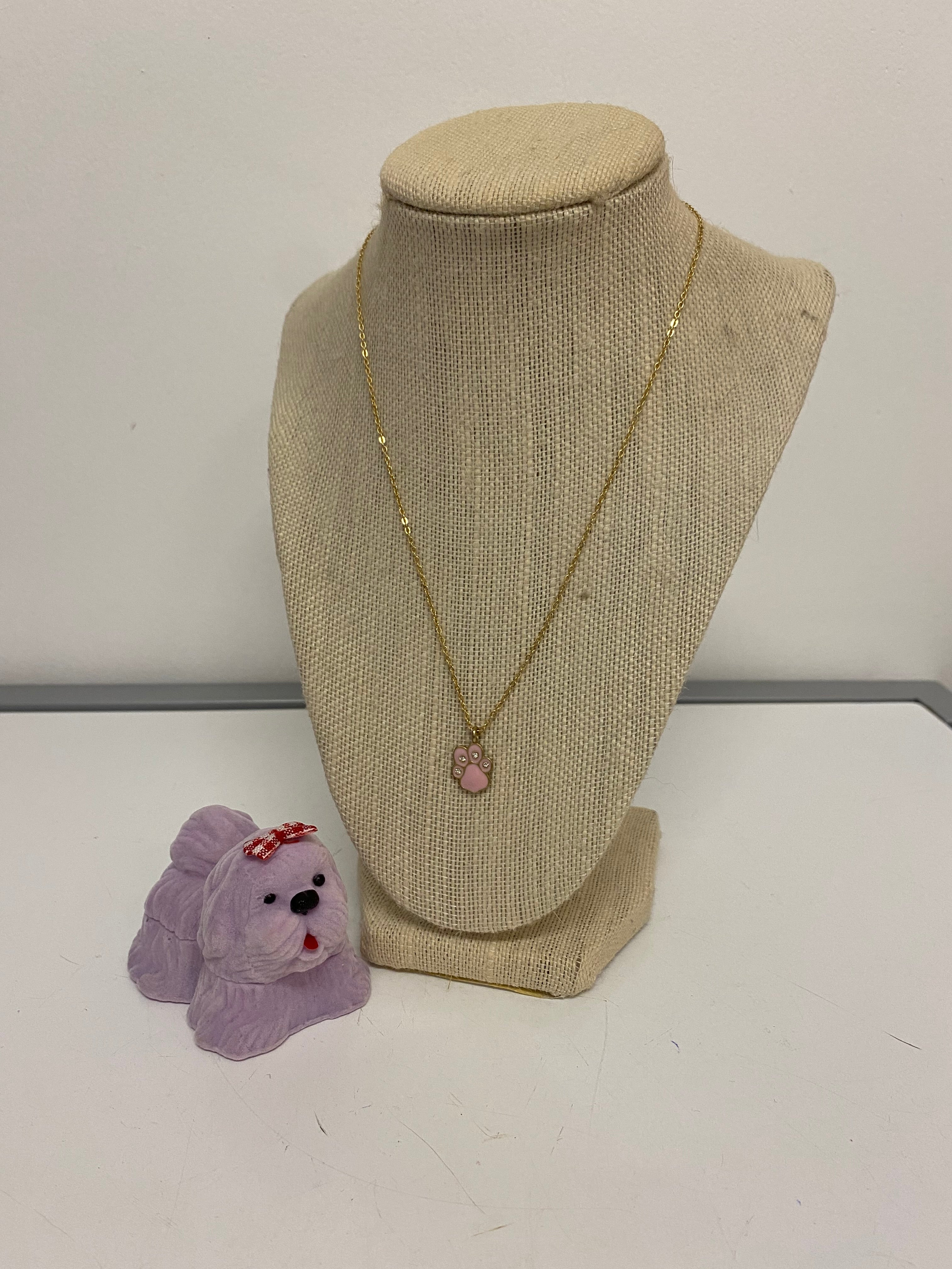 Paw Print Necklace in Dog Case