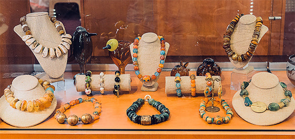 Stone Struck Jewelry displayed at Warwicks
