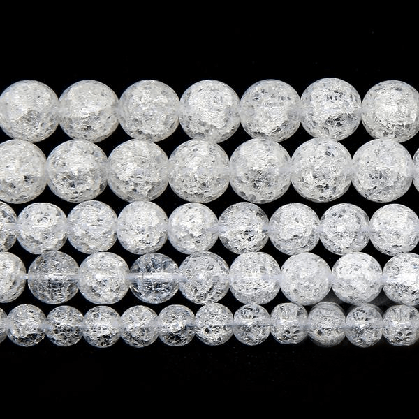Snow Cracked Crystal Stone Beads