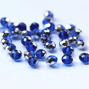 Mixed Colors 4*6mm 50pcs Rondelle  Austria faceted Crystal Glass Beads