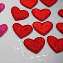 Load image into Gallery viewer, Heart Patch Sewing Stickers