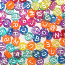 Load image into Gallery viewer, Round, Square Acrylic   Alphabet Letter Beads