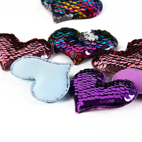 Sequin Reversible Love Patch Decoration