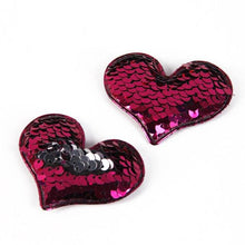 Load image into Gallery viewer, Sequin Reversible Love Patch Decoration