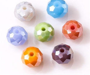 Loose Rondelle Crystal Beads