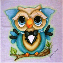 Load image into Gallery viewer, 5-D Diamond Painting Cartoon Owl,