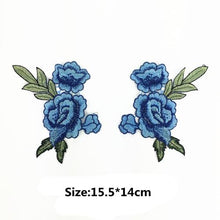Load image into Gallery viewer, 2pcs/Set Rose Flower Embroidery Patches