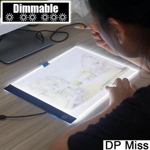Dimmable ! Ultra thin A4 LED Light Tablet Pad
