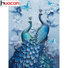 Load image into Gallery viewer, 5-D Diamond Painting Peacock