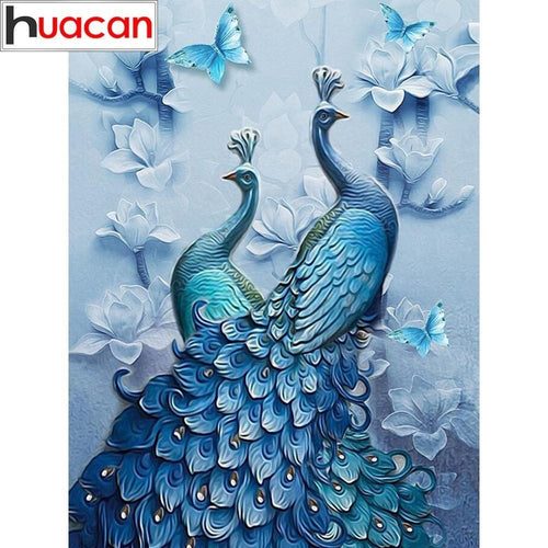 5-D Diamond Painting Peacock