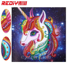 Load image into Gallery viewer, Diamond Embroidery Unicorn Wall Art